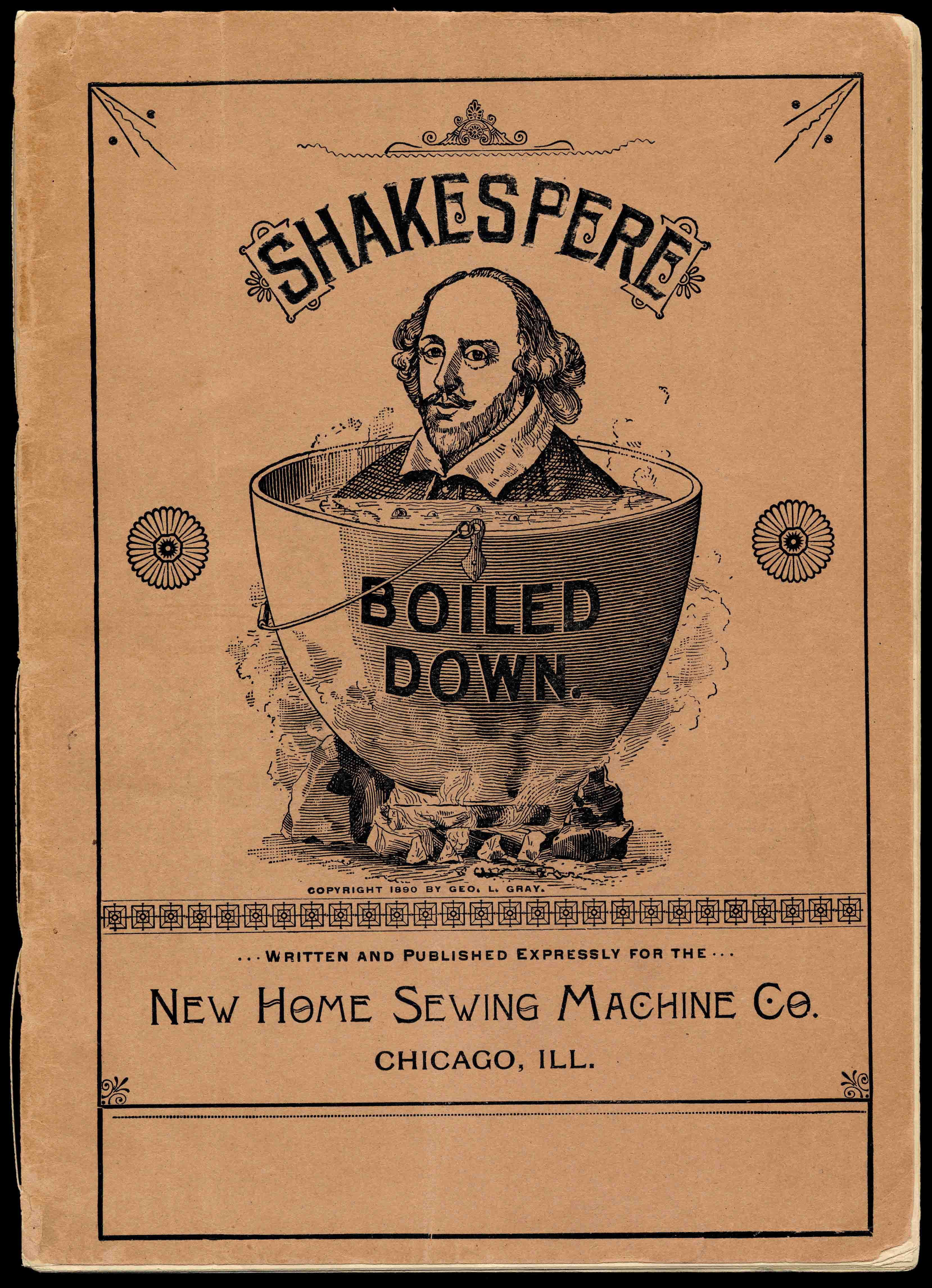 Shakespeare Boiled Down, New Home Sewing Machine Co. Pamphlet