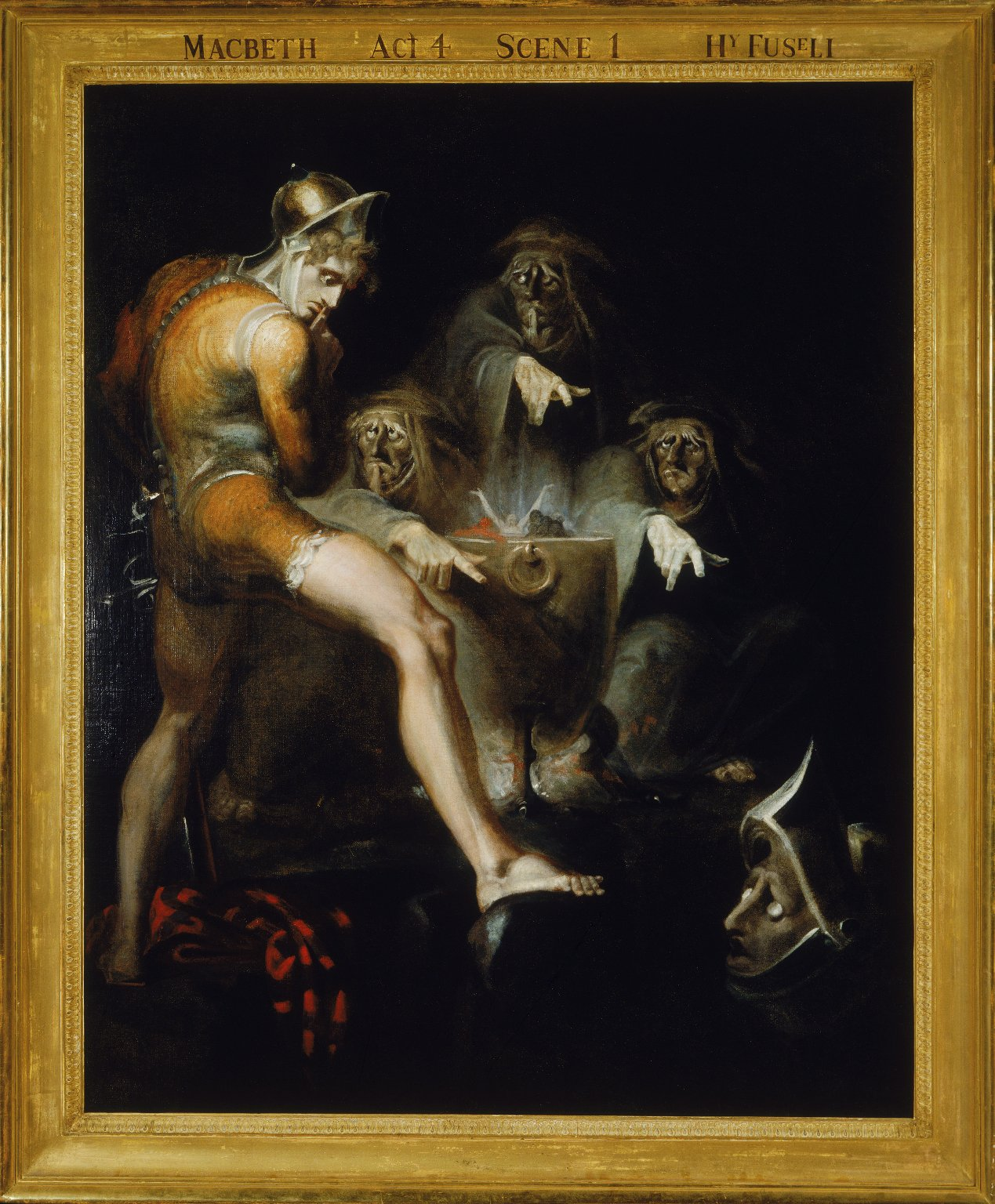 Henry Fuseli's painting of Macbeth with the witches (Act 4, scene 1; 1793)