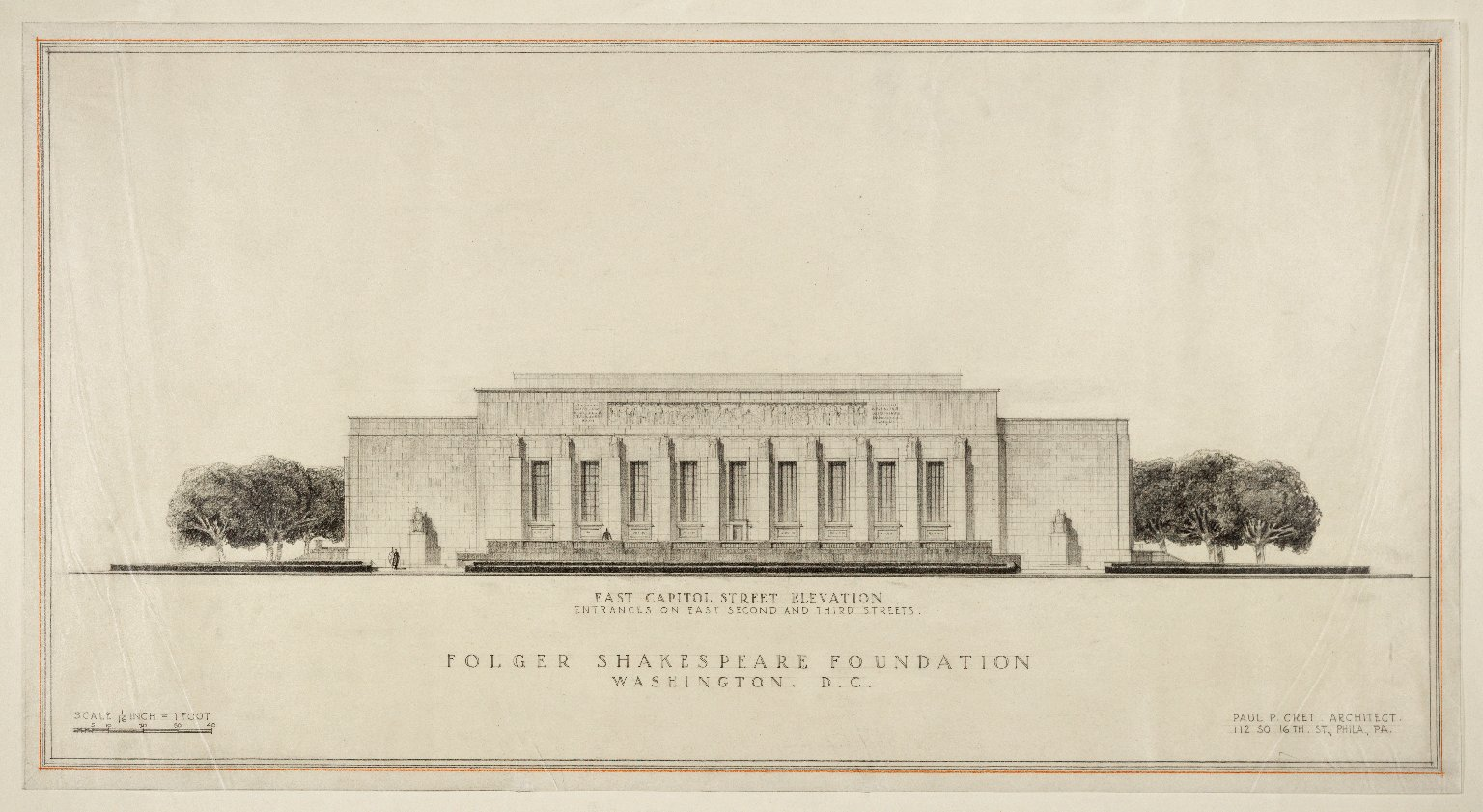 East Capitol Street elevation, lower wings