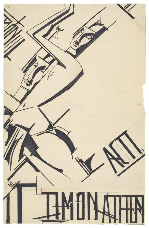 Wyndham Lewis drawing for an illustrated Timon of Athens (1912)