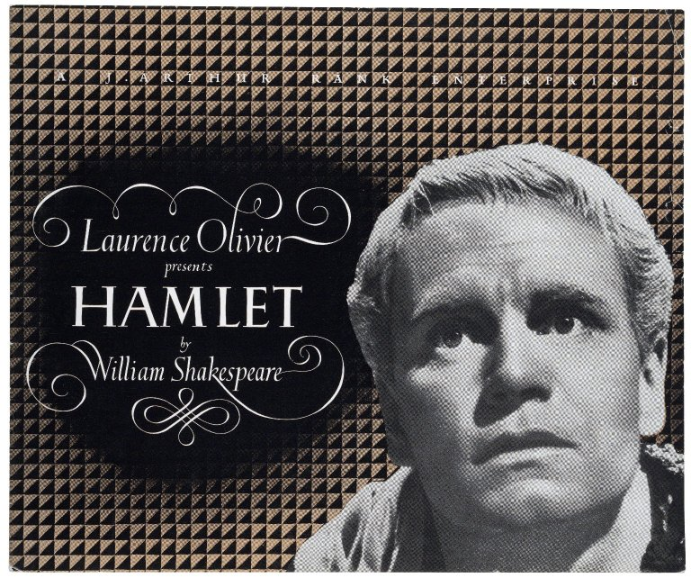 marketing material for Laurence Olivier's film of Hamlet (1948)