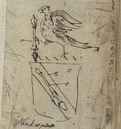 Sketch of Shakespeare's Crest