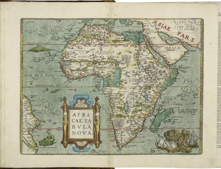 Map of Africa from Abraham Ortelius. Theatrum orbis terrarum. London, 1606 (i.e. 1608?).