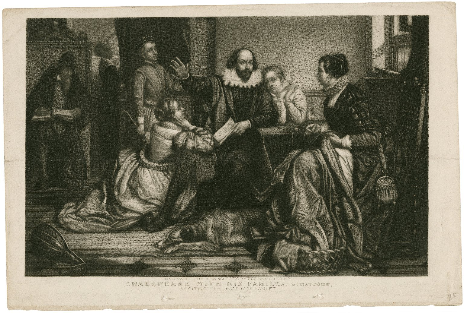 Painting of Shakespeare and his family