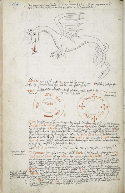Book of magic, with instructions for invoking spirits, etc., Folger Shakespeare Library v.b.26.