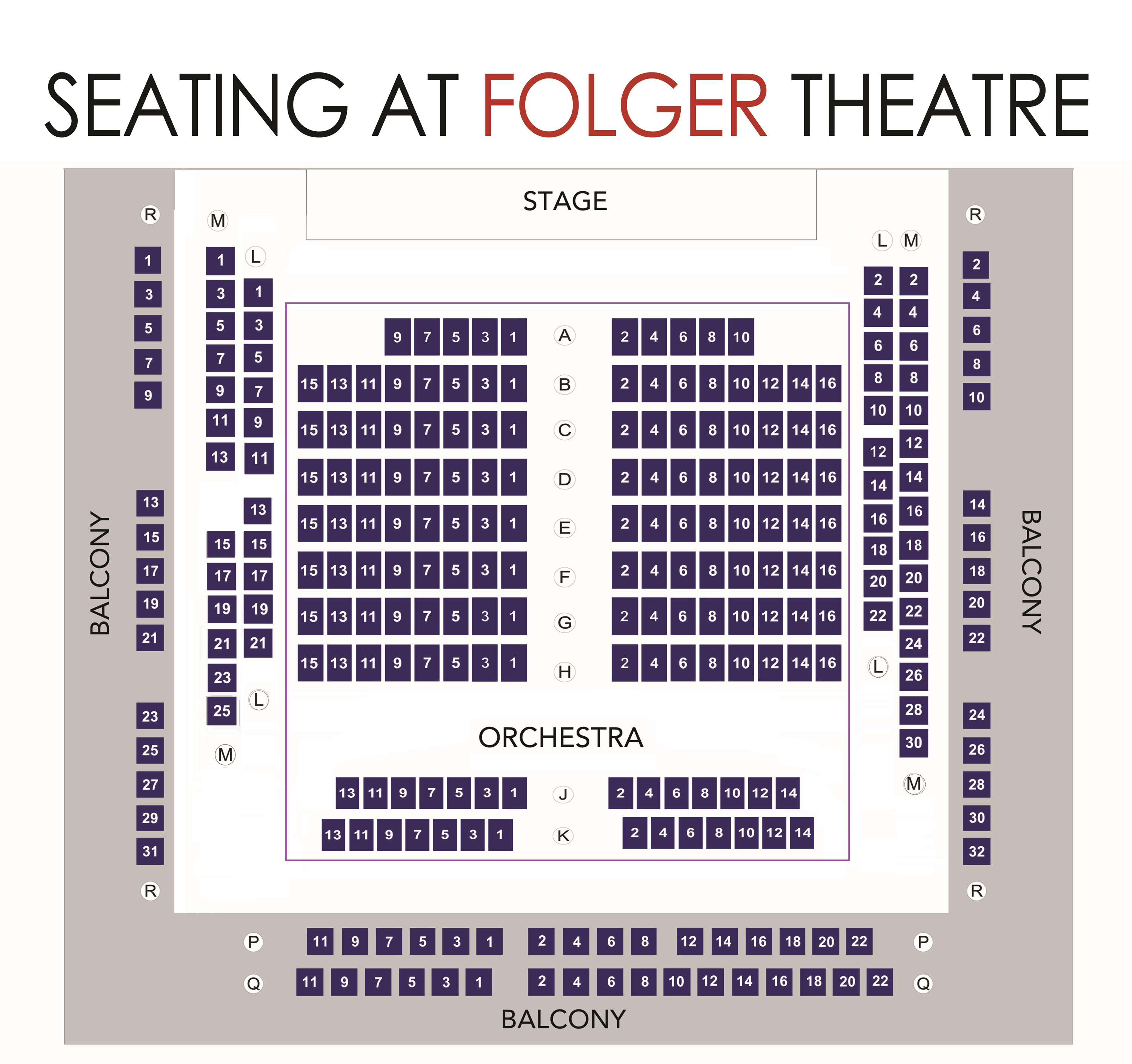 Folger Theatre Seating Chart 2018 Folger Shakespeare Library