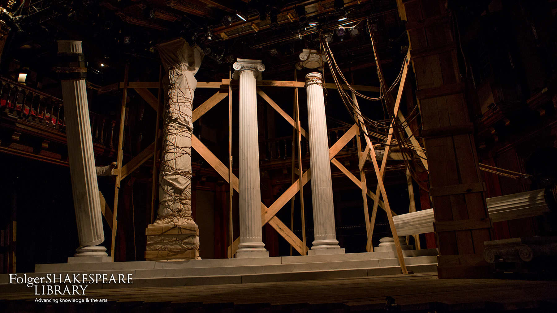 Set for District Merchants at Folger Theatre