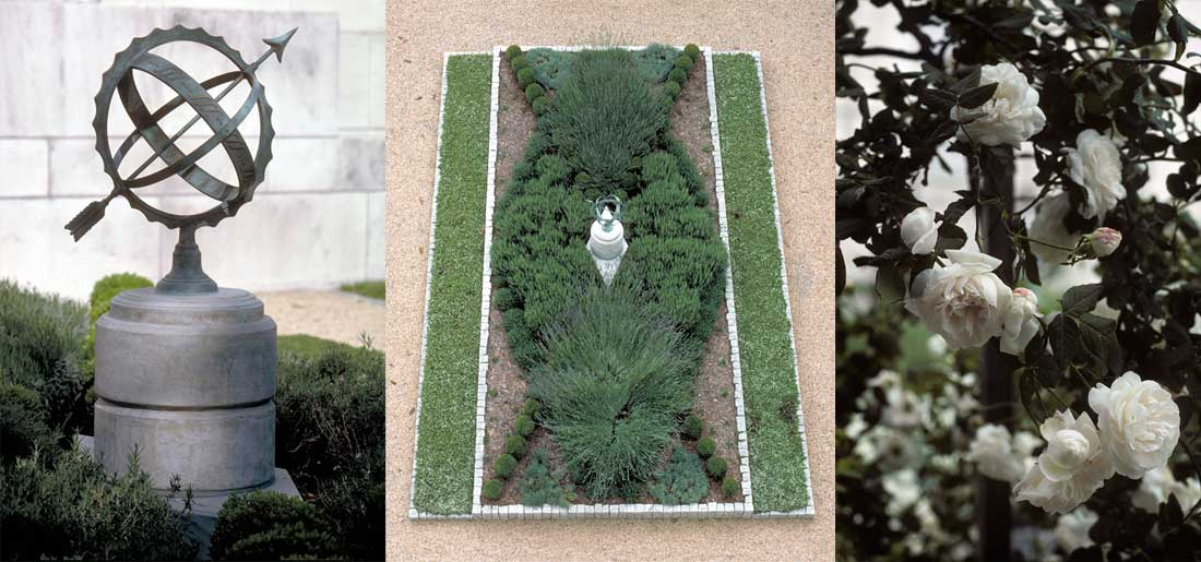 The Elizabethan Garden at the Folger Shakespeare Library.