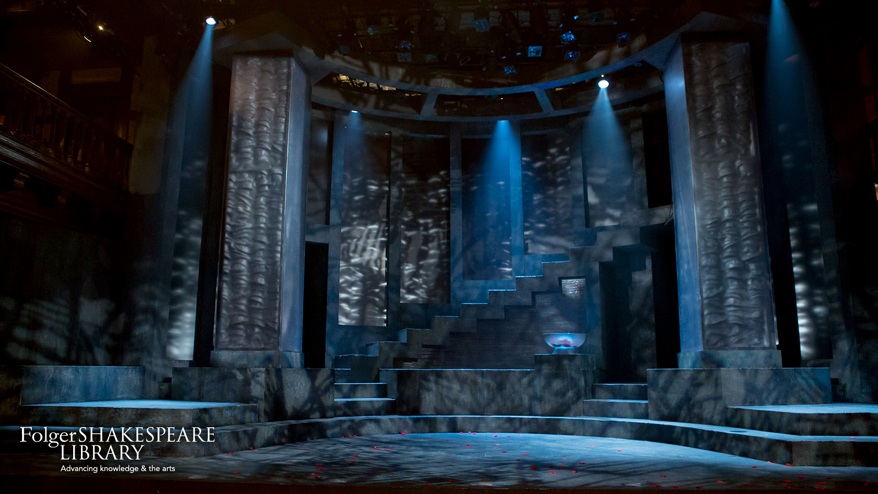 Set for Julius Caesar at Folger Theatre