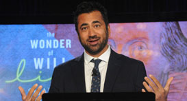 Kal Penn at The Wonder of Will Live on April 23, 2016. Photo by Lloyd Wolf.