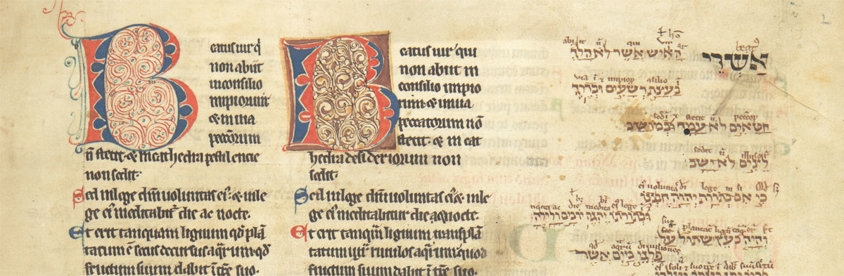 The Psalms, preceded by prefaces. England, probably Oxford, 13th century, second quarter. Corpus Christi College, Oxford.