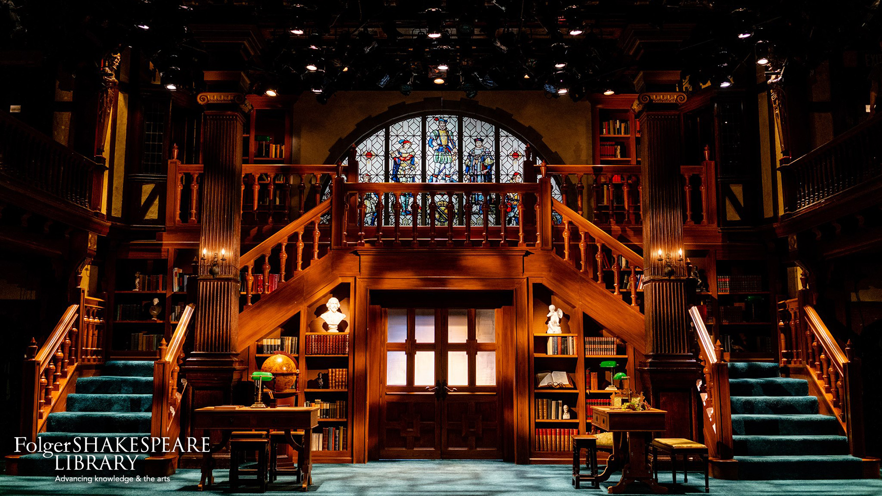 Set for Loves Labors Lost at Folger Theatre
