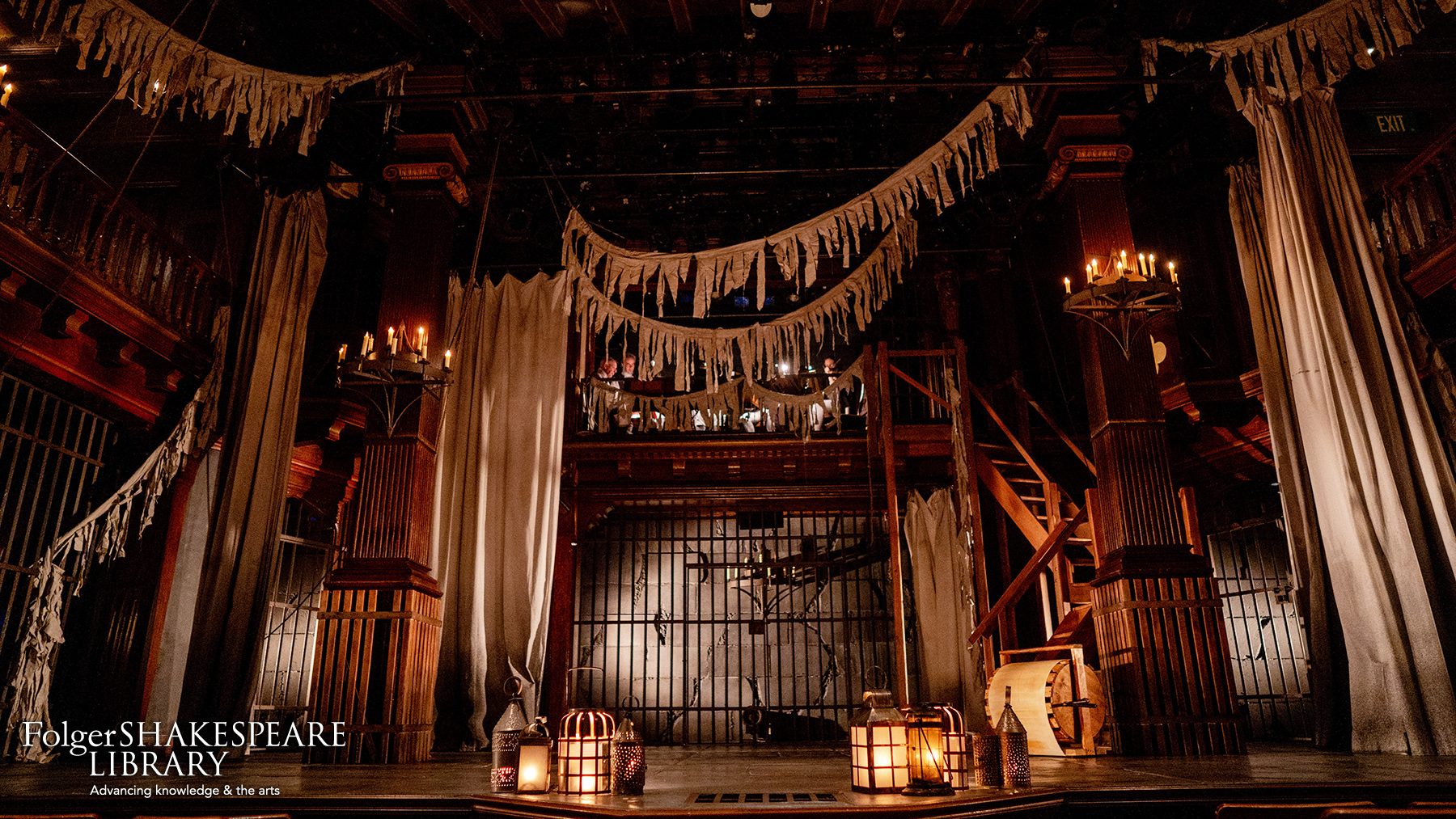 Set for Macbeth by Folger Theatre and Folger Consort