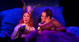 Holly Twyford and Caroline Clay in A Midsummer Night's Dream, Folger Theatre, 2016. Photo by Teresa Wood.