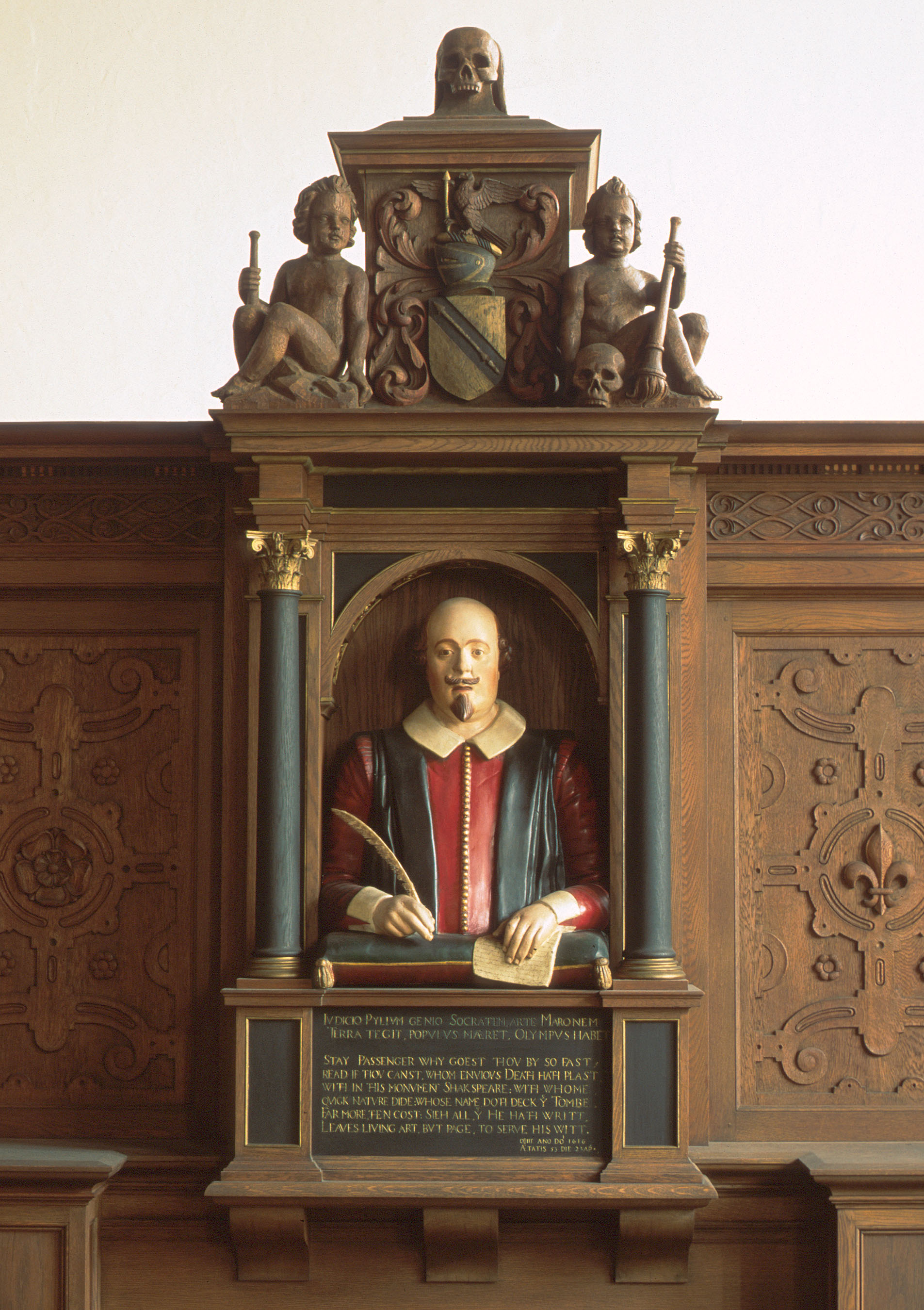 Shakespeare's bust