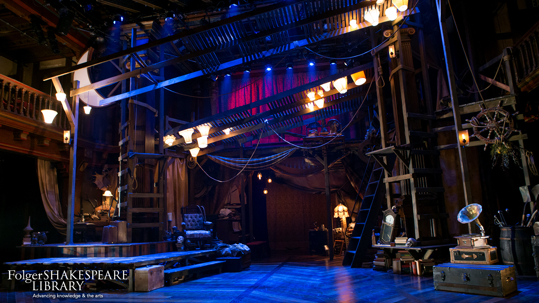 Set for Rosencratnz and Guildenstern Are Dead at Folger Theatre
