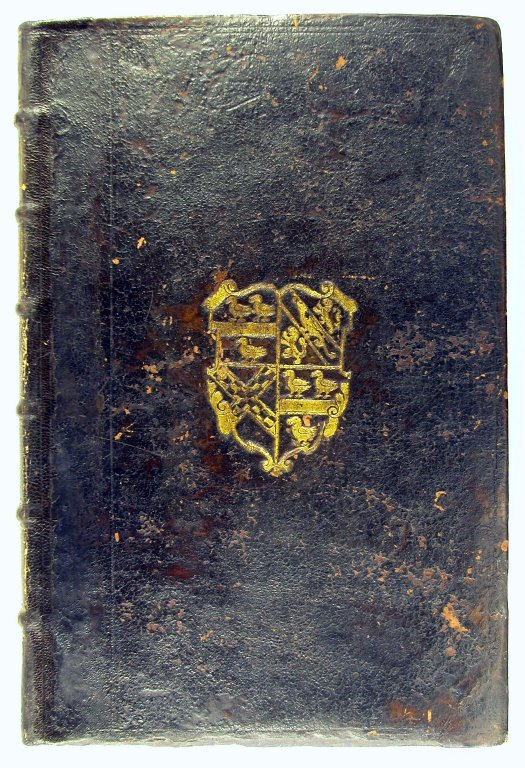 Second Burdett-Coutts First Folio, Folger First Folio 10; binding with Sheldon coat of arms