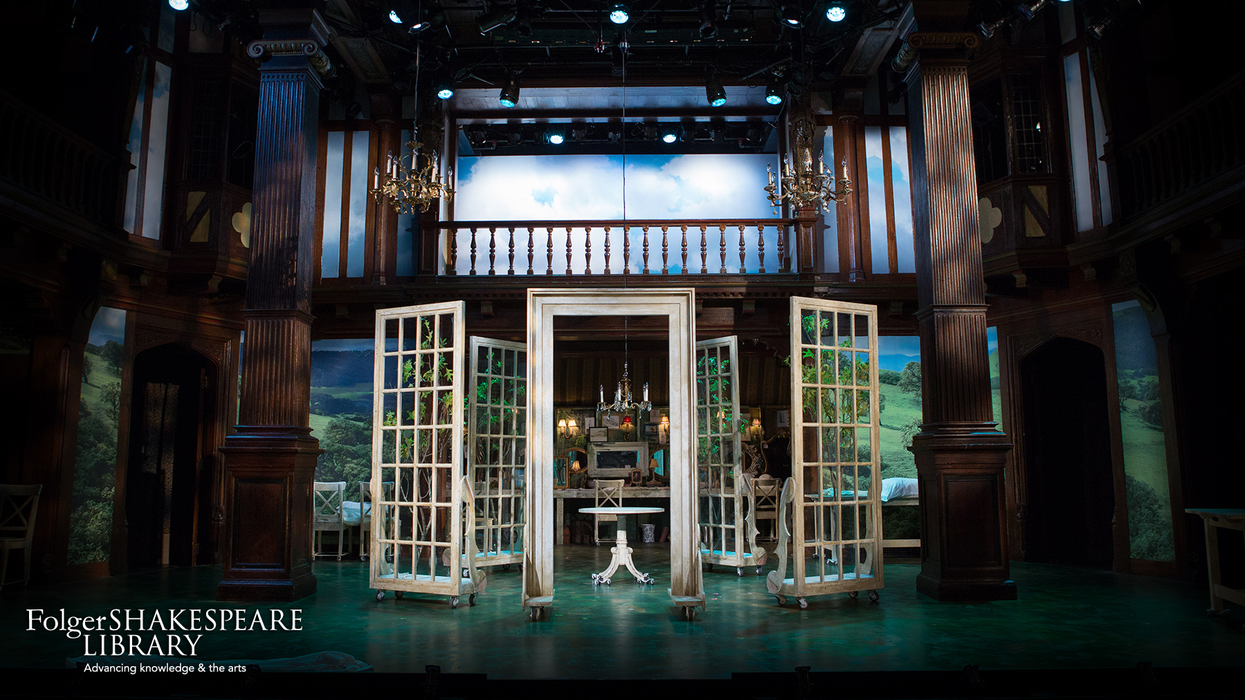 Set for Sense and Sensibility at Folger Theatre