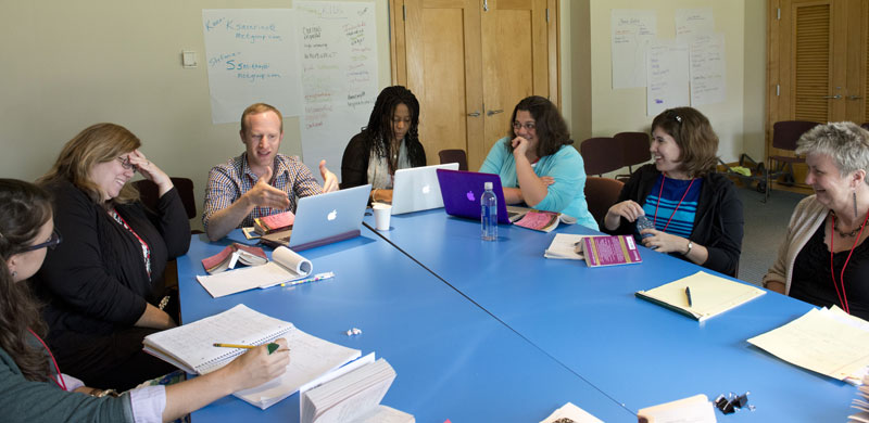 Professional development for teaching Shakespeare. Photo by James R. Brantley.