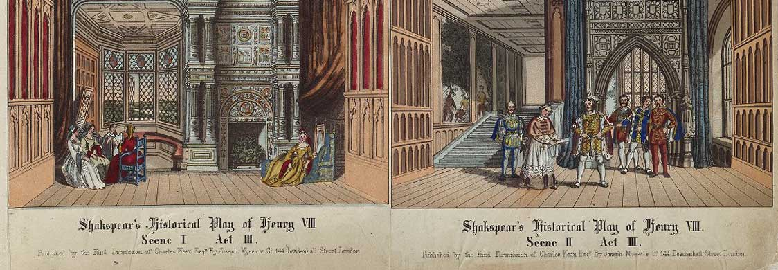 Charles Kean's scrap book including costumes, scenes, and scenery from nine Shakespearian plays, and portraits of contemporary actors and actresses. Folger Shakespeare Library. ART Vol. d49.