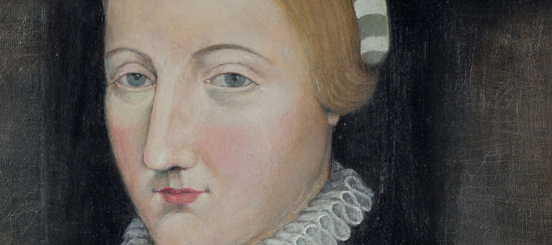 """Portrait of Anne Hathaway from the cover of Katherine Scheil's book, """"Imagining Shakespeare's Wife: The Afterlife of Anne Hathaway."""" CC-BY-NC-ND Image courtesy of the Shakespeare Birthplace Trust"""