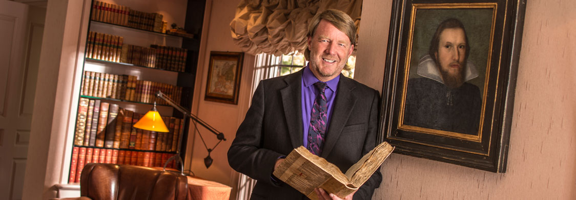 Eric Rasmussen and the discovery of the Saint-Omer First Folio in France. Photo credit Jeff Dow.