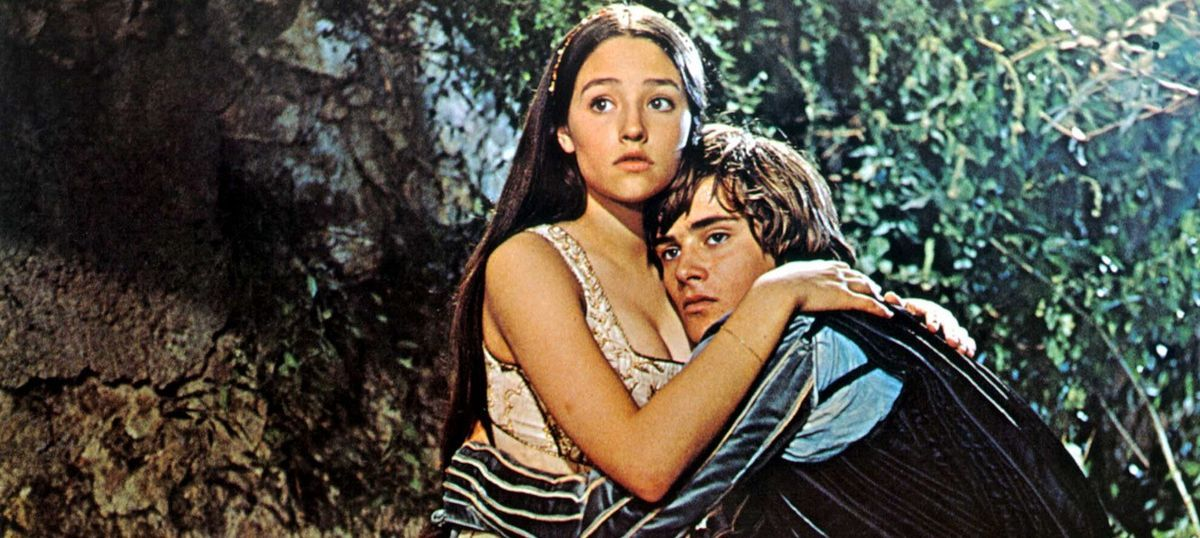 "Olivia Hussey and Leonard Whiting in Franco Zeffirelli's 1968 ""Romeo and Juliet"""
