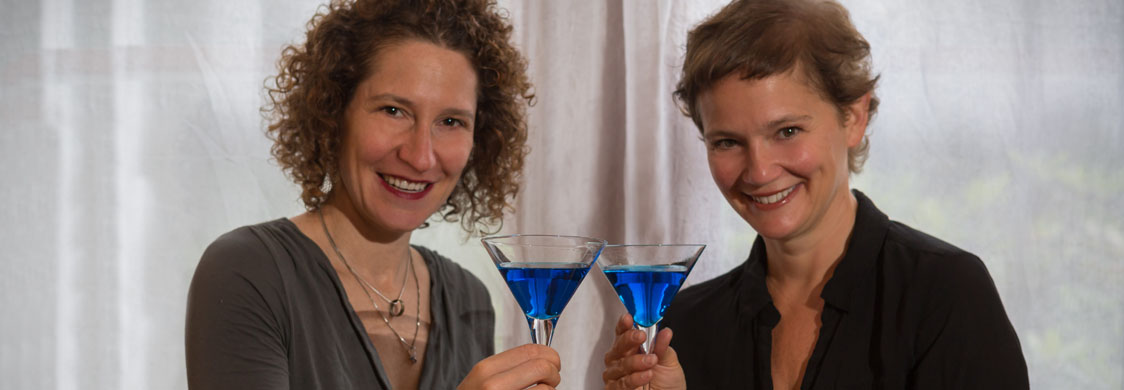 Shakespeare Not Stirred authors Michelle Ephraim and Caroline Bicks. (Photo credit: Al Mallette –Lightstream)