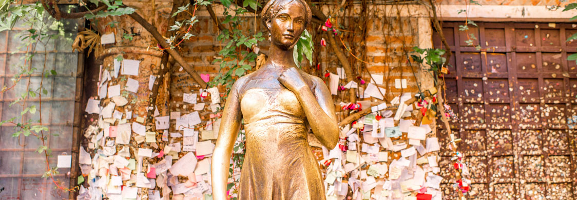 A statue of Juliet in Verona