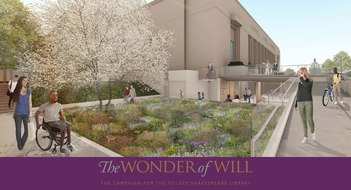 Rendering showing the East Entry of the New Pavilion