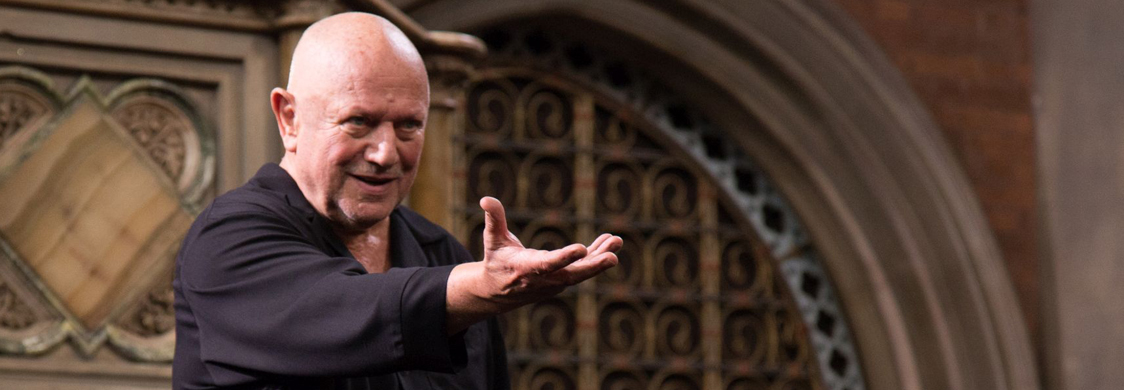 "Actor Steven Berkoff performing ""Shakespeare's Heroes and Villains"""