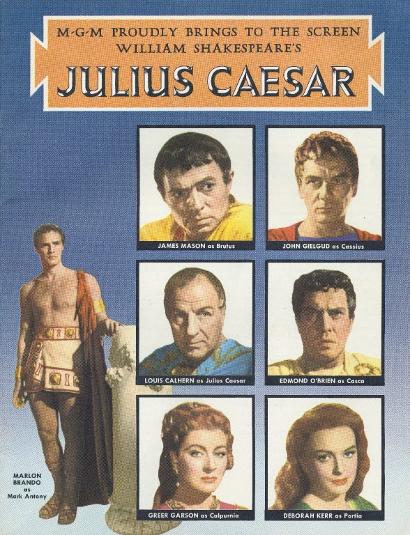 Promotional program for 1953 film of Julius Caesar