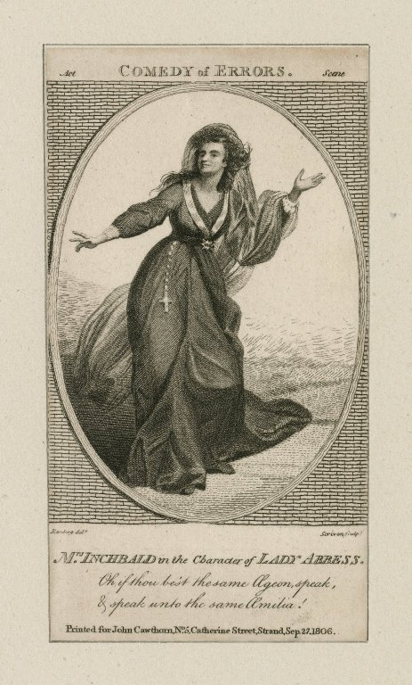 Mrs Inchbald in the role of the Lady Abbess (1806)