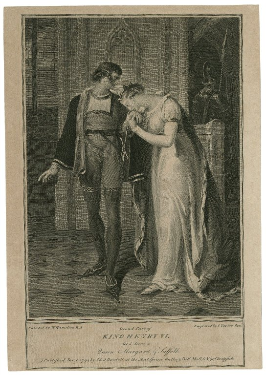 Margaret and Suffolk (act 3, scene 2; 1785)