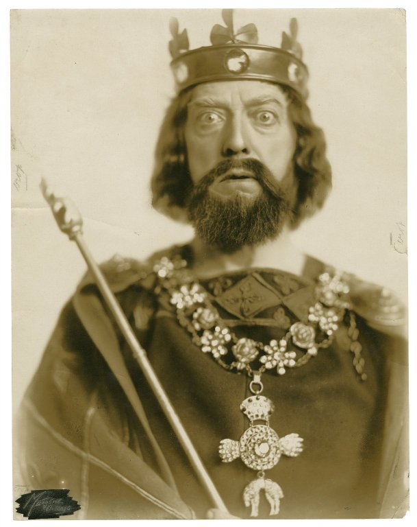 R.B. Mantell as King John (19th or early 20th century)