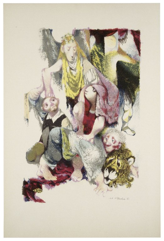 Jiří Trnka lithograph of the mechanicals (1961)