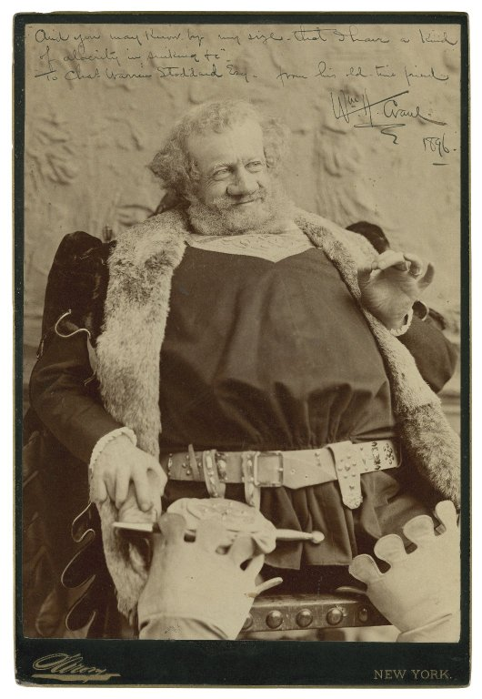 William Crane as Falstaff (1896)
