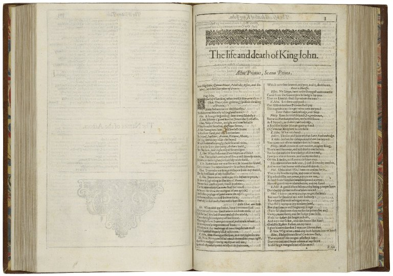 opening of King John in the First Folio