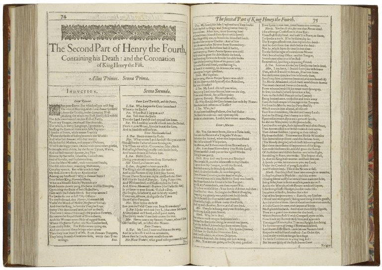 The beginning of 2 Henry IV in the First Folio