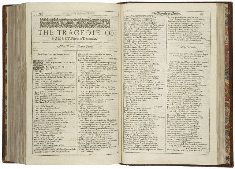 opening of Hamlet in the First Folio