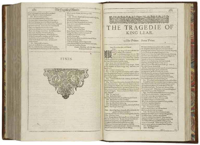 beginning of the First Folio King Lear
