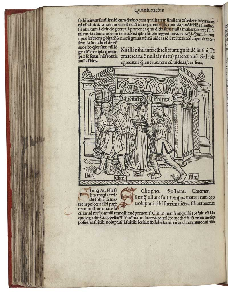 1493 edition of the works of Terence, a Roman playwright. Folger Shakespeare Library.