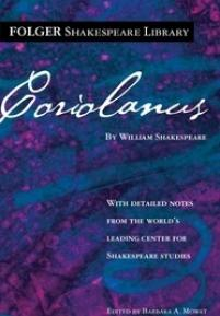 cover of the Folger edition of Coriolanus
