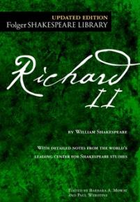 cover of the Folger edition of Richard II