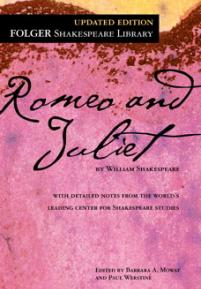 romeo and juliet  folger shakespeare library cover of the folger edition of romeo and juliet