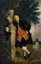 """Copy of Thomas Gainsborough's """"David Garrick Leaning on a Bust of Shakespeare"""""""
