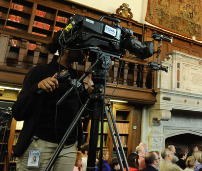 C-SPAN2 at The Wonder of Will LIVE on April 23, 2016. Photo by Lloyd Wolf.